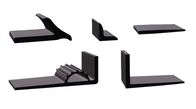 Extruded Rubber L Sections, Coves, and Wiperes