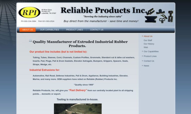 Reliable Rubber Products, Inc.